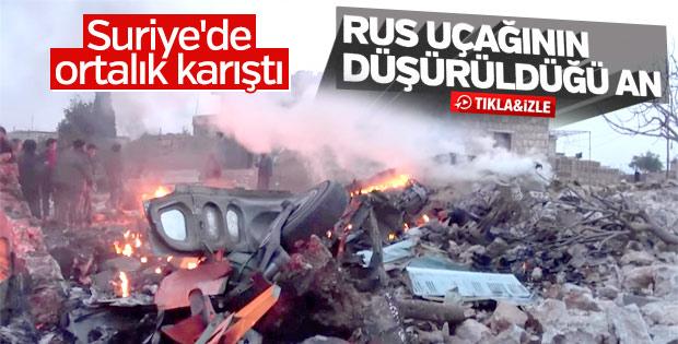 El-Nusra'nın Rus jetini vurma görüntüleri ortaya çıktı