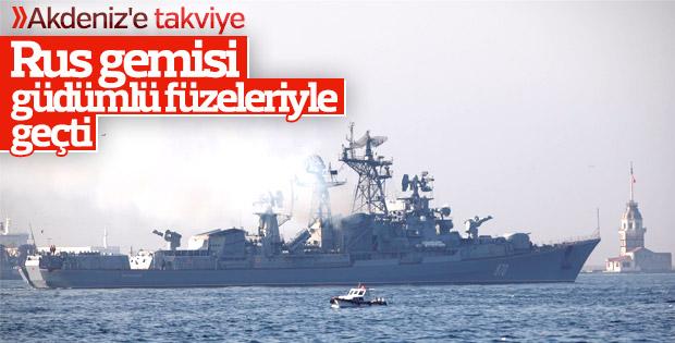 Füze yüklü Rus savaş gemileri Akdeniz'e ilerliyor
