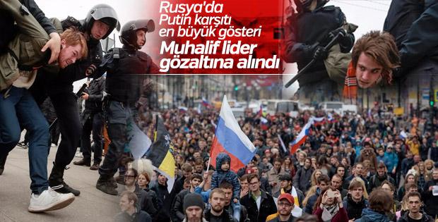 Rusya'da Putin karşıtı gösterilerde polis dayağı