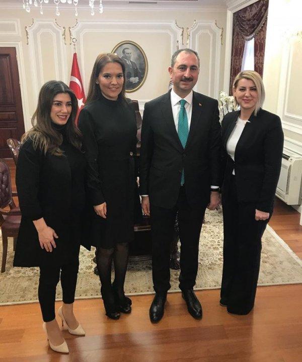Demet Akalın ve Nadide Sultan Adalet Bakanlığı'nda