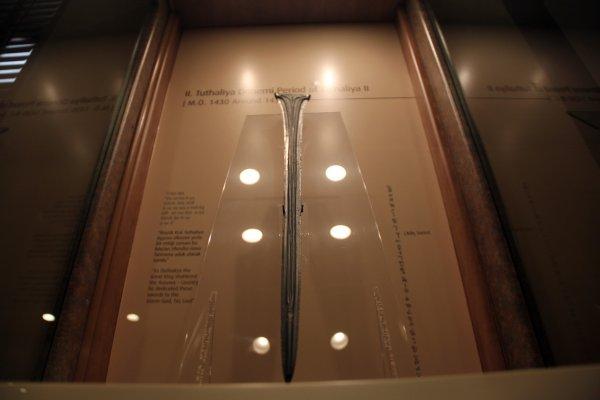 Dünyada eşi bulunmayan Hitit kılıcı Çorum'da