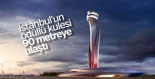 3. Havalimanı'nın kulesinin yüksekliği 90 metreye ulaştı