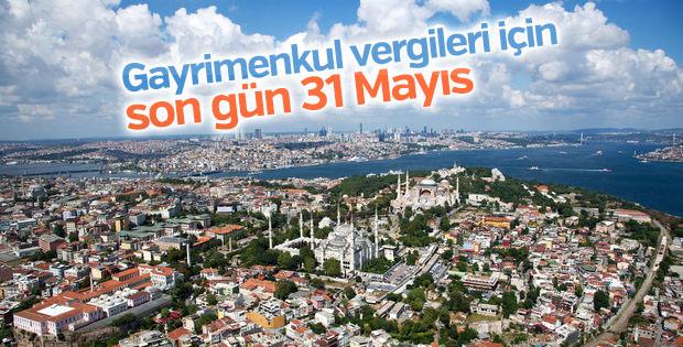Gayrimenkul vergileri için son gün 31 Mayıs