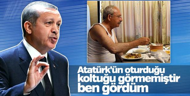 Erdoğan: Atatürk'ün oturduğu koltuğu gördüm