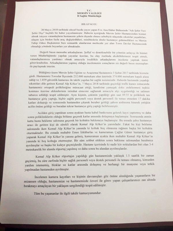 Fatih Portakal'ın şehir hastaneleriyle ilgili yalan haberi