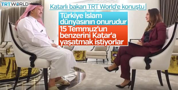 Katarlı Bakan: Türkiye İslam dünyasının onurudur