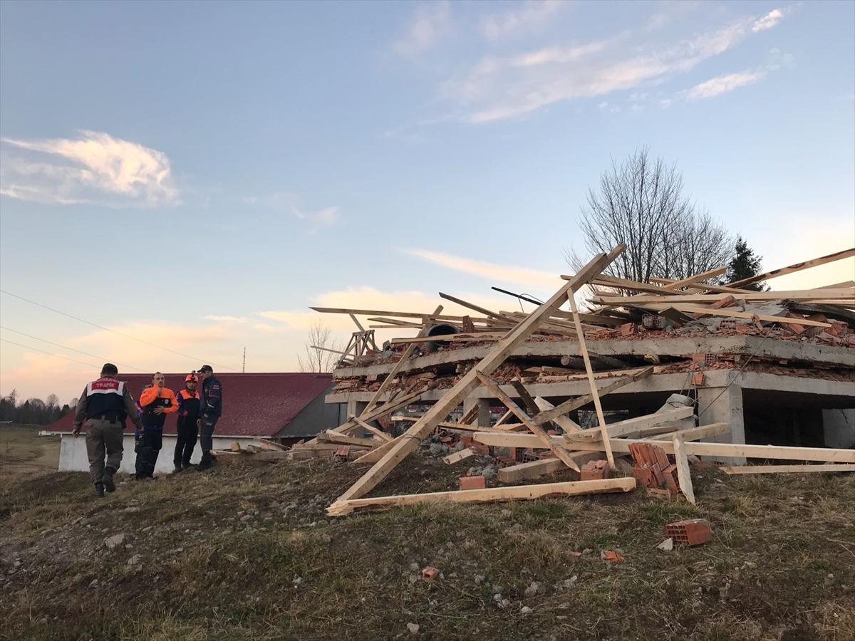 Trabzon'da mescit inşaatında göçük: 1 ölü, 6 yaralı