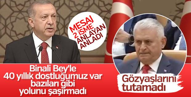 Başkan Erdoğan'dan Binali Yıldırım'ı duygulandıran sözler