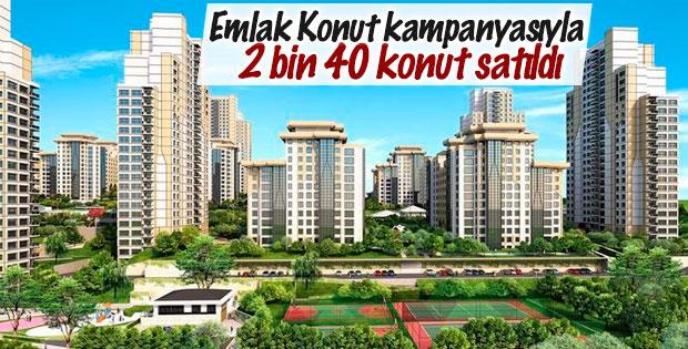 Emlak Konut kampanyasıyla 2 bin 40 konut satıldı