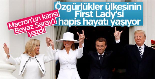 Fransız first lady, Amerikan first lady'yi anlattı