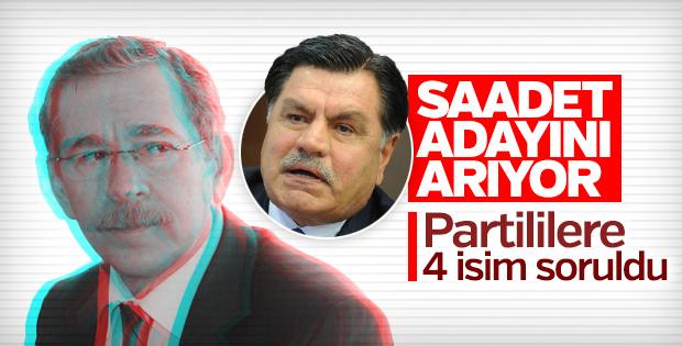 Saadet Partisi 4 isim arasından adayını çıkaracak