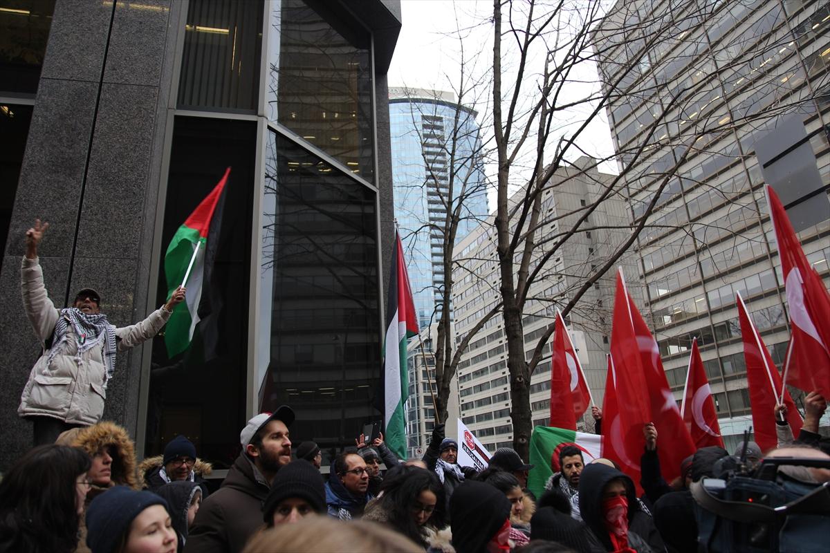 Kanada'da Kudüs kararına tepki