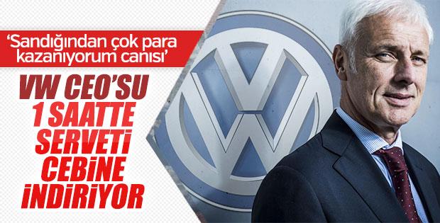 Volkswagen CEO'su bir günde servet kazanıyor