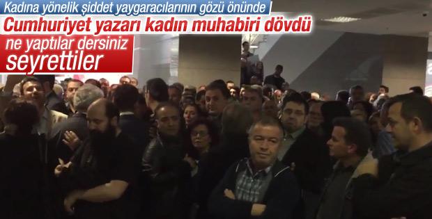 Can Dündar duruşmasında Sabah muhabirine saldırı