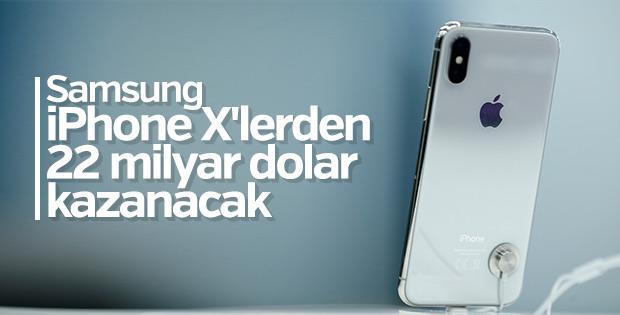 Samsung'un iPhone X'ten kazancı 22 milyar dolar
