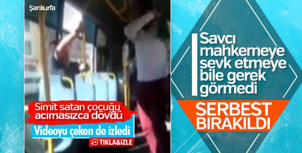Şanlıurfa'da çocuğu kemerle döven kişi serbest bırakıldı