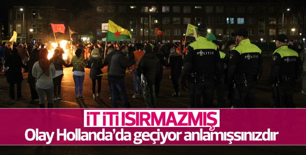 PKK yandaşları Lahey'de yürüdü