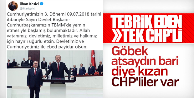 İlhan Kesici, Başkan Erdoğan'ı tebrik etti