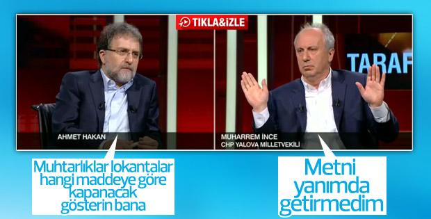 Ahmet Hakan'dan İnce'yi zora düşüren soru