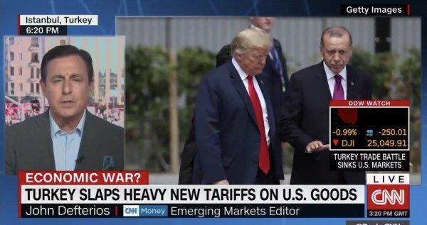 CNN: Türkiye ile ticari savaş ABD borsalarını batırdı