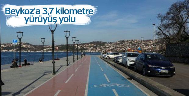Beykoz'a 3,7 kilometre yürüyüş yolu