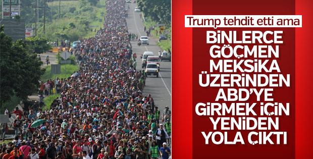 ABD'ye gitmek isteyen 5 bin kişi yine Meksika yolunda