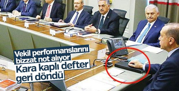 Cumhurbaşkanı Erdoğan'ın kara kaplı defteri geri döndü