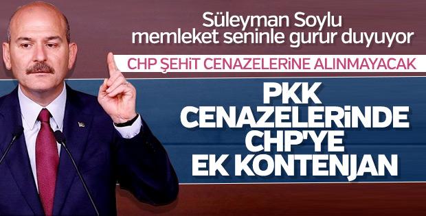 Soylu: CHP'li il başkanlarının tek adresi PKK cenazesi