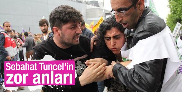 Bakırköy'de HDP'li Sebahat Tuncel'in zor anları