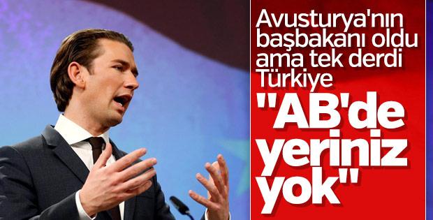 Sebastian Kurz yine Türkiye'yi hedef aldı