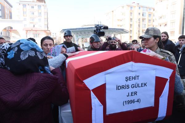 Şehit İdris Gülek Van'da son yolculuğuna uğurlandı