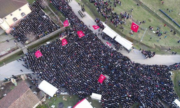 Afrin şehidini Samsun'da binlerce kişi uğurladı