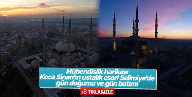 Selimiye'de gün doğumu ve gün batımı