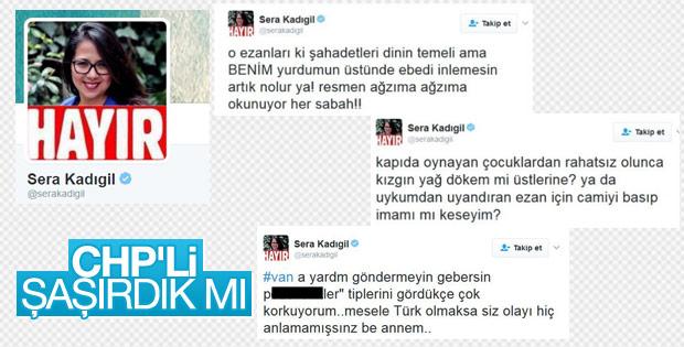 CHP PM üyesi Sera Kadıgil'den skandal paylaşımlar