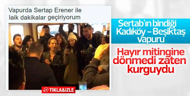 Sertab Erener'in vapurda şarkı söylediği anlar kurgu