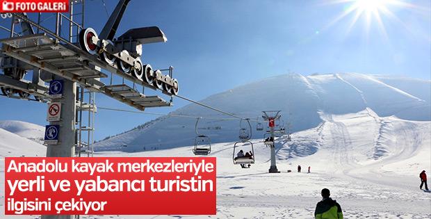 Anadolu kayak merkezleriyle ilgi topluyor