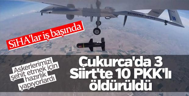 Siirt'te 10 PKK'lı öldürüldü