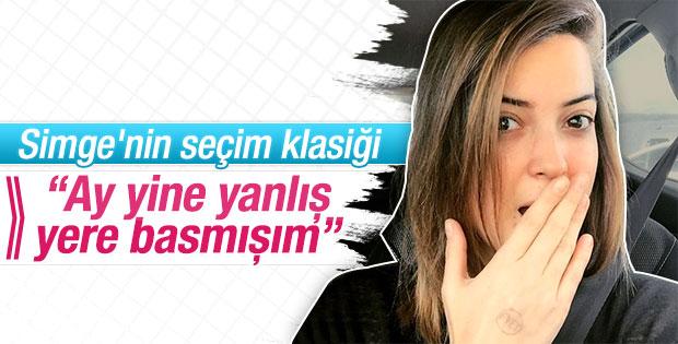 Simge Fıstıkoğlu oy kaşesini eline bastı