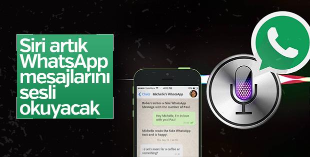 Siri WhatsApp mesajlarını sesli okuyacak