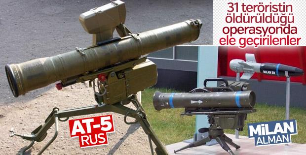 Şırnak'ta 2 adet güdümlü tanksavar füzesi ele geçirildi