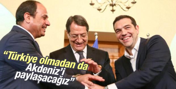 Yunanistan, Mısır ve Kıbrıs Rumları Akdeniz'i paylaşacak