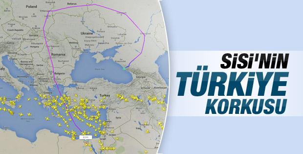 Sisi'nin uçağı Türkiye'yi pas geçti
