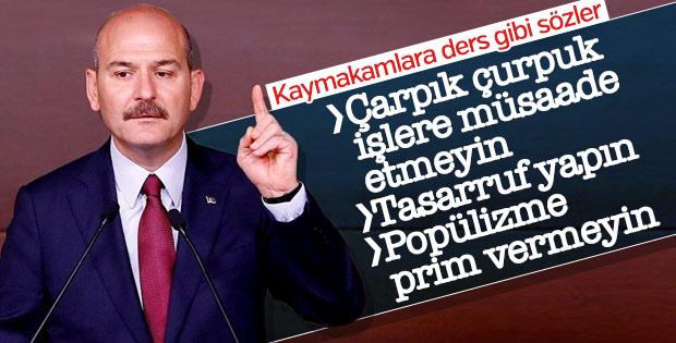 Süleyman Soylu'nun kaymakam adaylarına talimatı