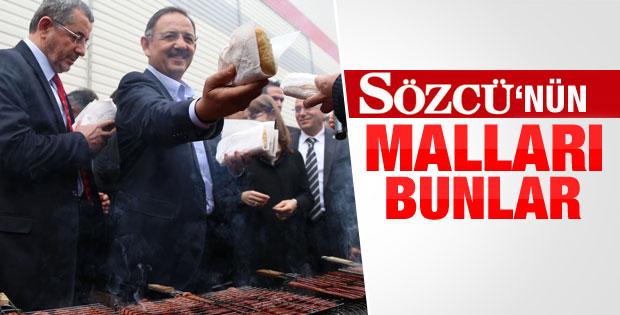 Mehmet Özhaseki tazminat parasıyla sucuk ekmek dağıttı