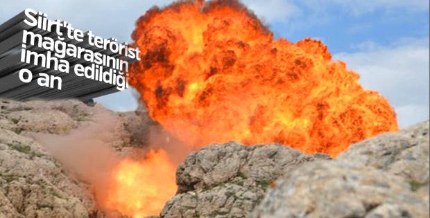 Siirt'te teröristlerin kullandığı 38 mağara bulundu