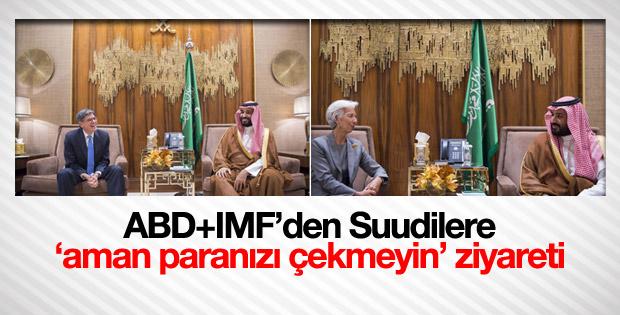 ABD Hazine Bakanı ve IMF Başkanı Suudi Arabistan'da