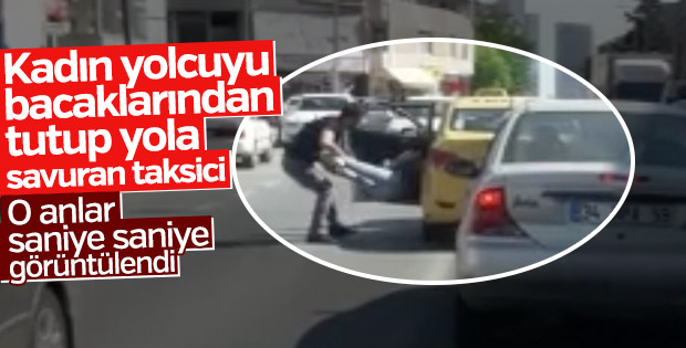 İstanbul'da taksici dehşeti kamerada