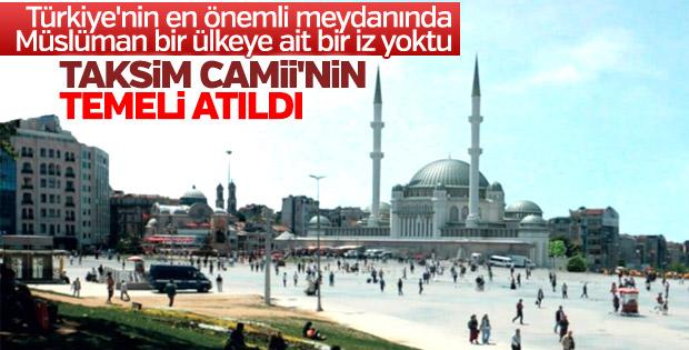 Taksim Camii'nin temeli atıldı