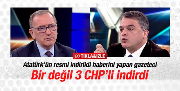 Atatürk resmi haberini yapan gazeteci: 3 CHP'li indirdi
