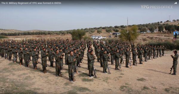 Afrin'deki terör kampı yeni mezunlarını verdi